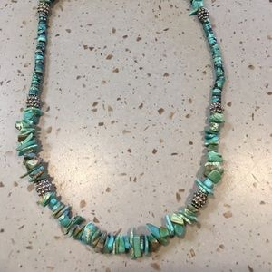 Ladies 16 inch turquoise necklace.